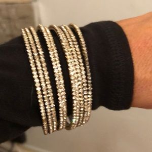 Jewelry - Stacked bling bangles never worn